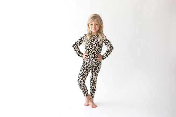 Posh Peanut - Lana Leopard Tan - Long Sleeve Basic Loungewear