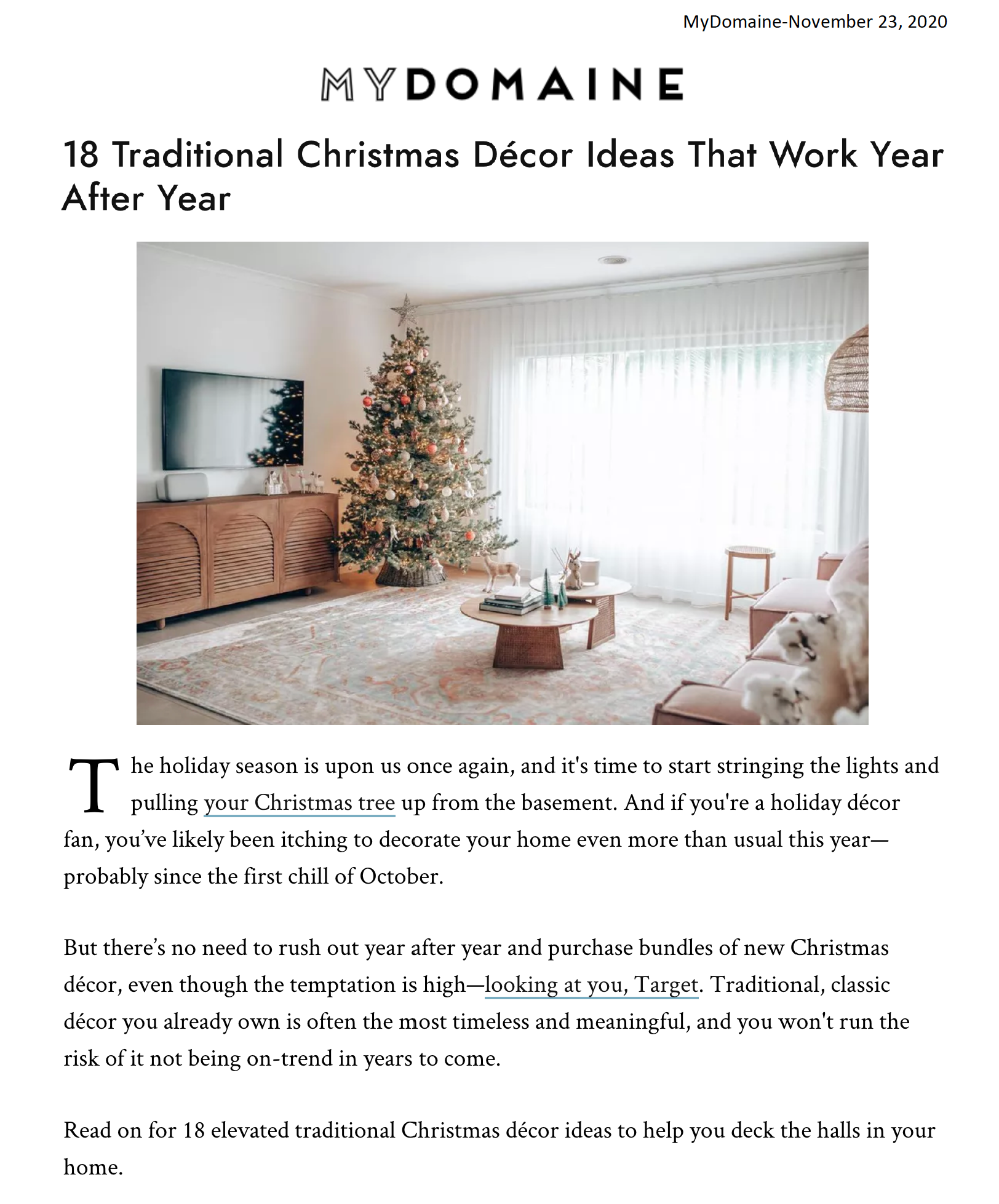18 Traditional Christmas Décor Ideas That Work Year After Year