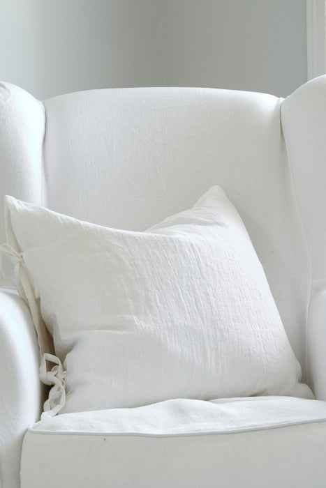 Linen pillow case, white