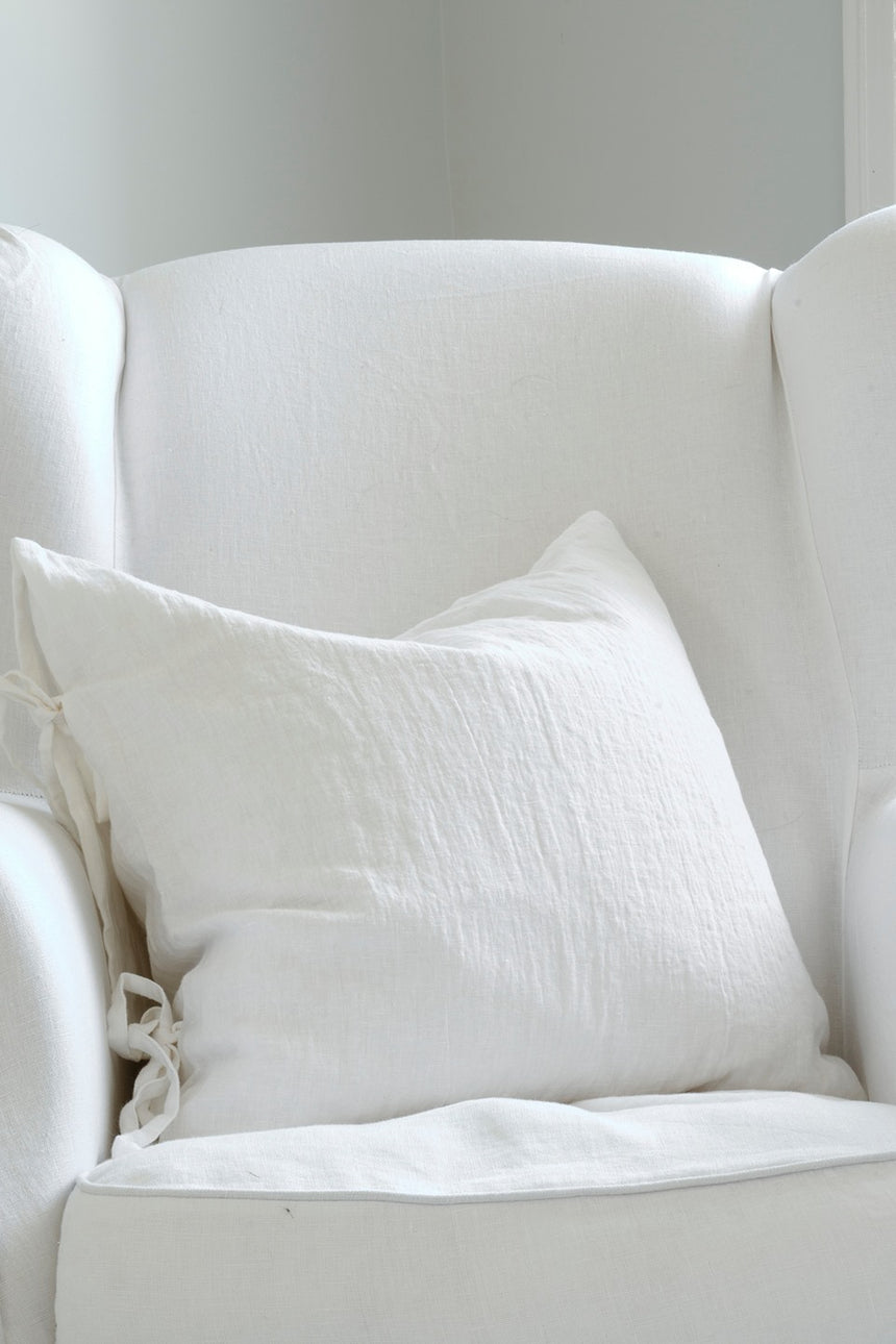 Linen Pillowcase, White