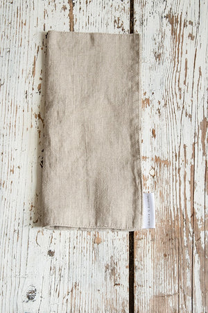 Linen Cutlery Pouch (set of 2), Natural