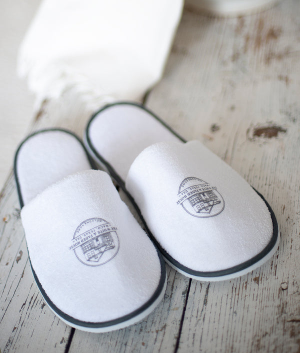 THE WHITE & FADED HOUSE Slippers PRE-ORDER