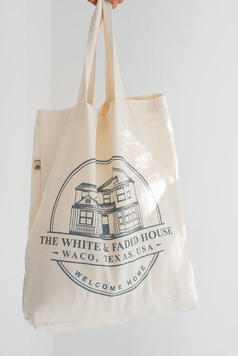***SALE 20%*** THE WHITE & FADED HOUSE Recycled Tote Bag