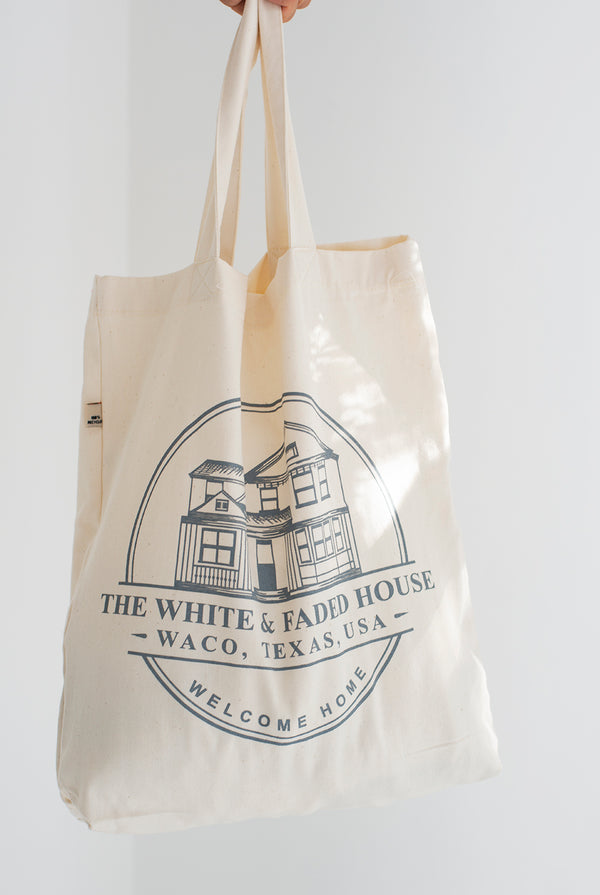 THE WHITE & FADED HOUSE Recycled Tote Bag