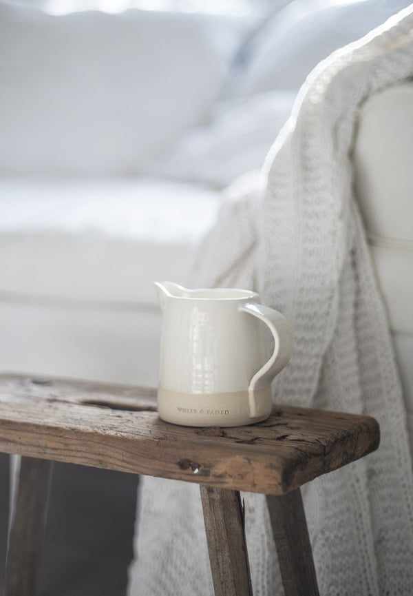 ***SALE 10%*** White & Faded Collection Small Jug