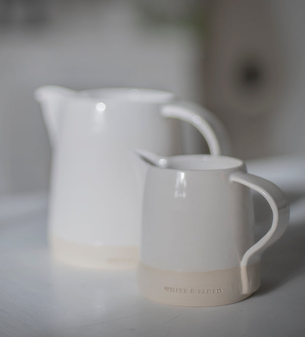 White & Faded Collection Small Jug