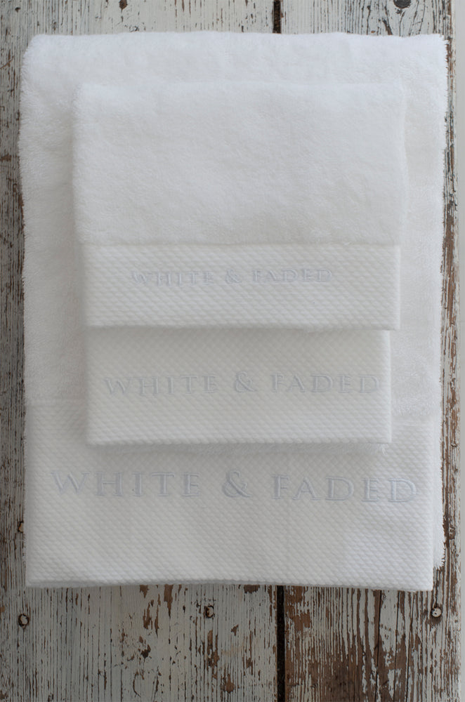 Premium Egyptian Cotton Terry 800 GSM White Towels