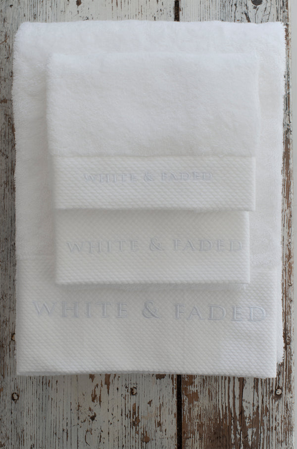 ***Up to SALE 50%*** White & Faded Collection Cotton Towels