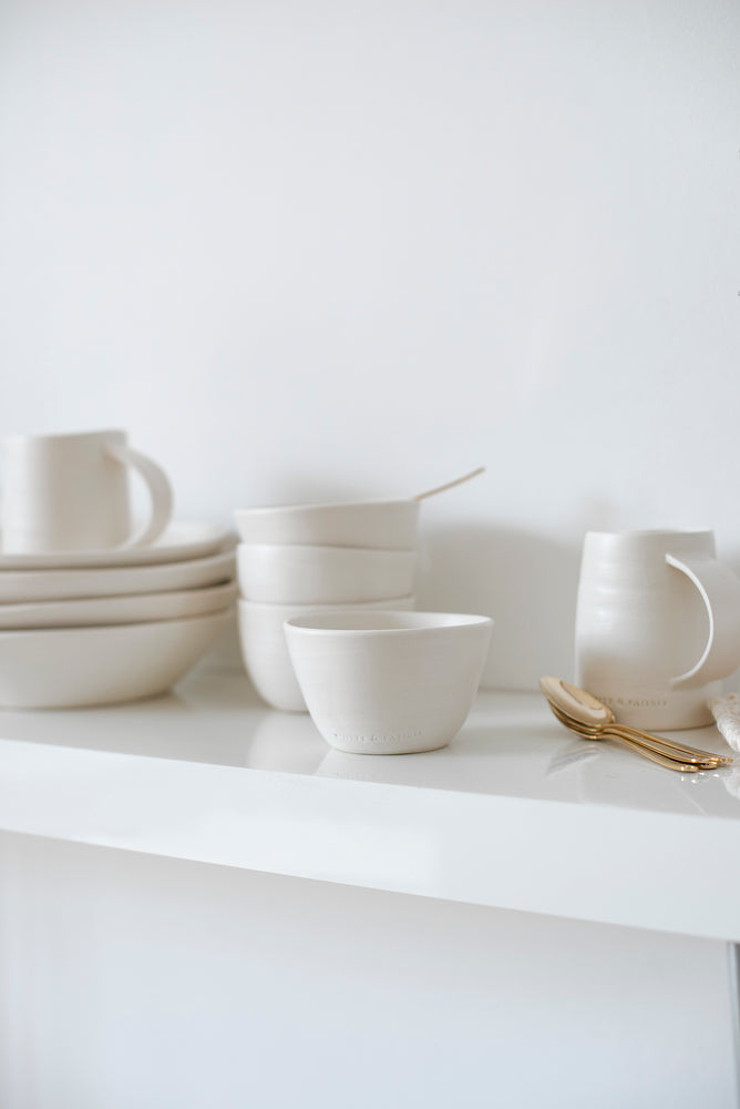 The Clay Sugar Bowl is a tiny addition to the Artisan Collection, an exclusive creation from the house of White & Faded.