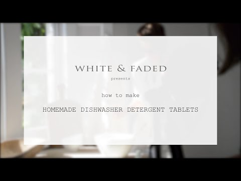 White & Faded Tutorial Dishwasher Tablets
