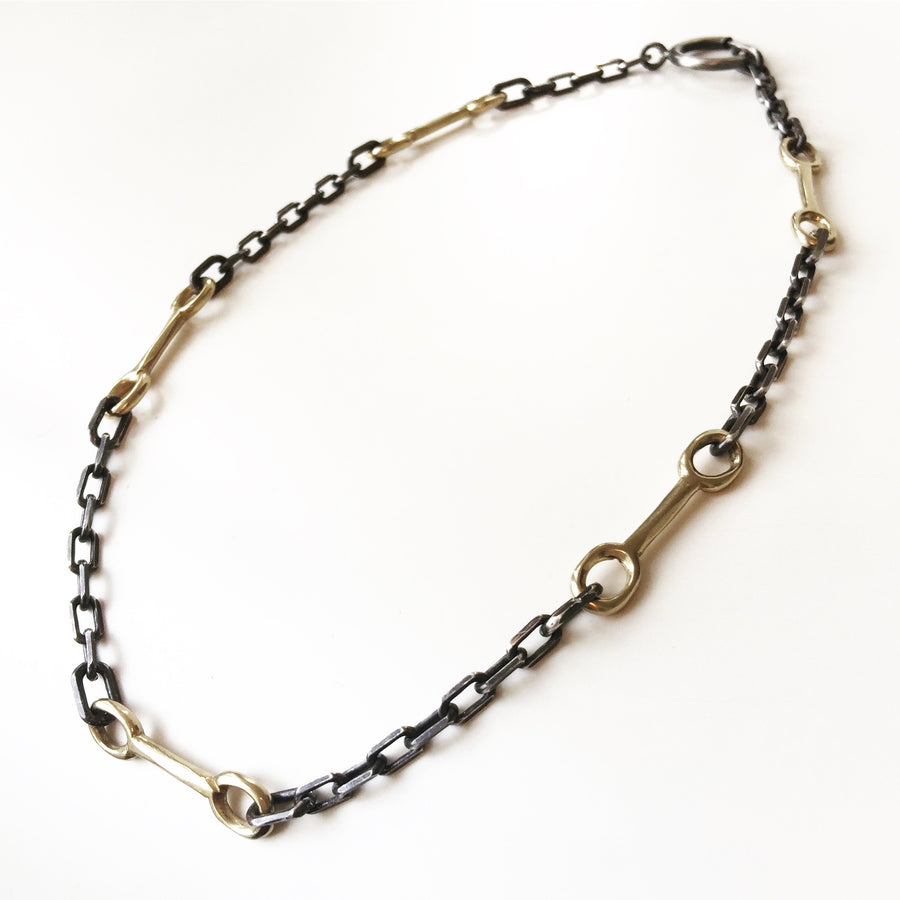 Bit Chain - Bronze & Oxidized Silver