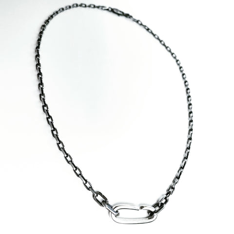 Solo C Link Necklace - Silver