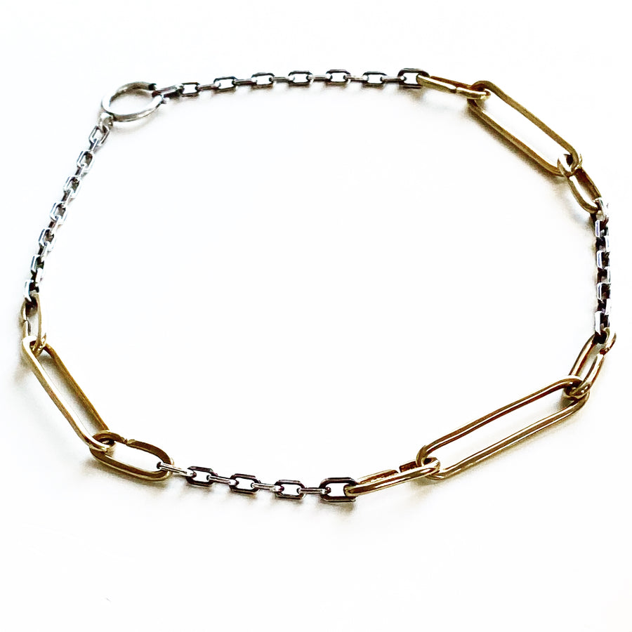 Three Stories Combo Chain - bronze & sterling silver