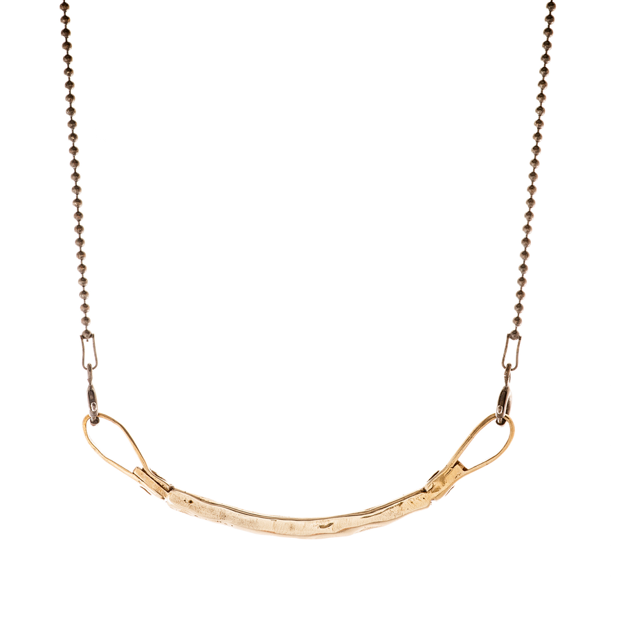 Curved Bar Necklace - bronze