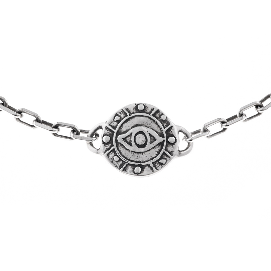 Eye Medallion - heavy link choker