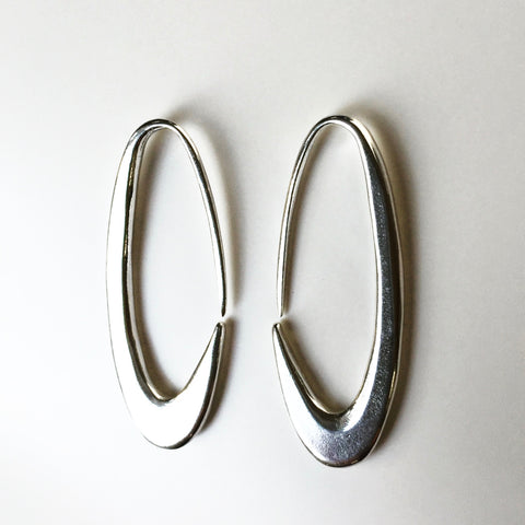 Modern Oval Earrings
