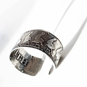 Leap of Faith - sterling silver cuff