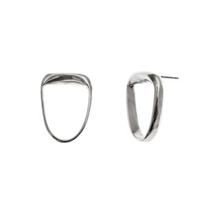 Long lobe earrings - silver