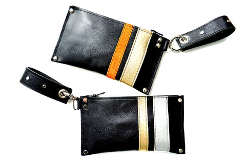 RacerX Wristlet - Orange & Gold - or - Gold and Silver