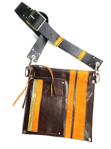 RacerX Road Bag - Burgundy, Orange & Gold