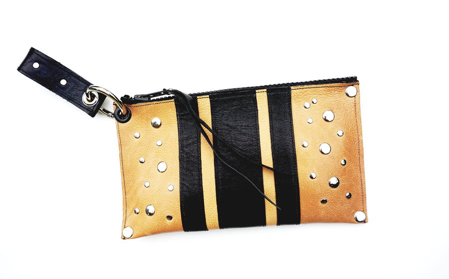 RacerX Road Wristlet - Vegetable Tanned Natural & Black