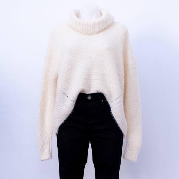 Cream Roll Neck Jumper - Sarah Urban