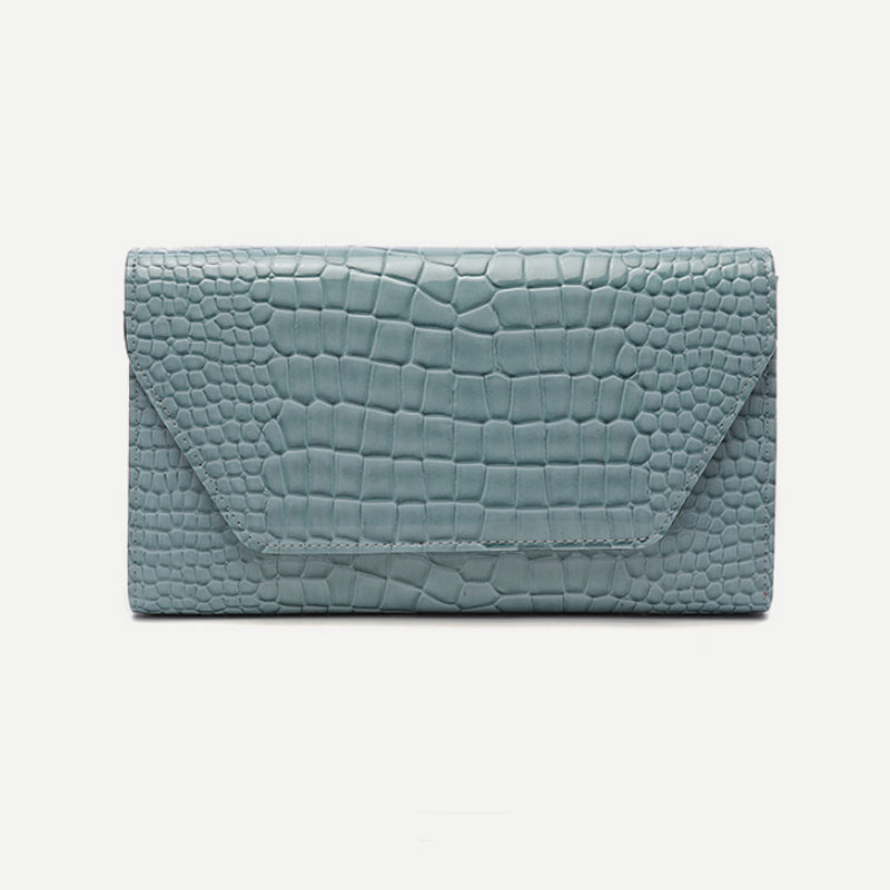 Crocodile Clutch - Black, Pink, Red and Dusty Blue - Sarah Urban