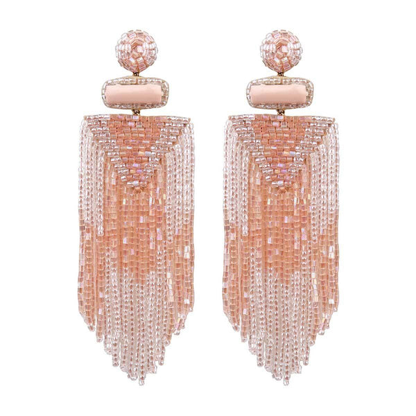 Peach Bead Earrings - Sarah Urban