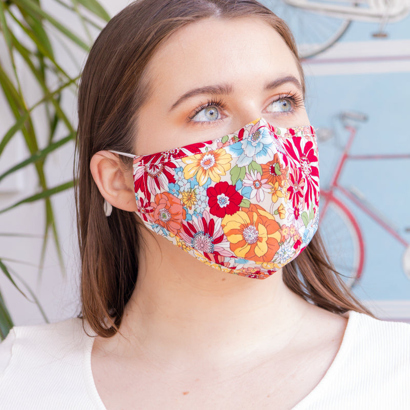 Summer Floral Face Mask