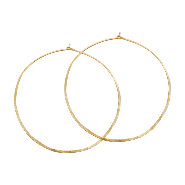 Hammered gold hoop earrings - Sarah Urban