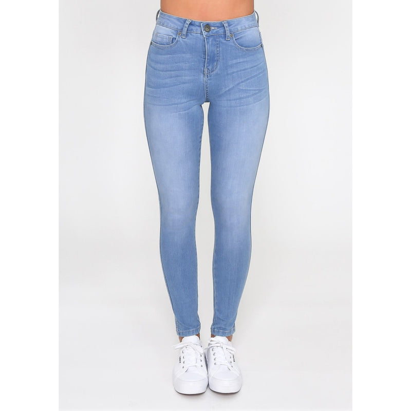 KHLOE HIGH WAISTED BLUE JEAN - Sarah Urban