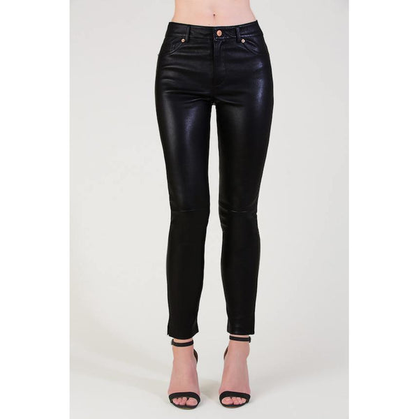 Black Leather skinny jeans - Sarah Urban