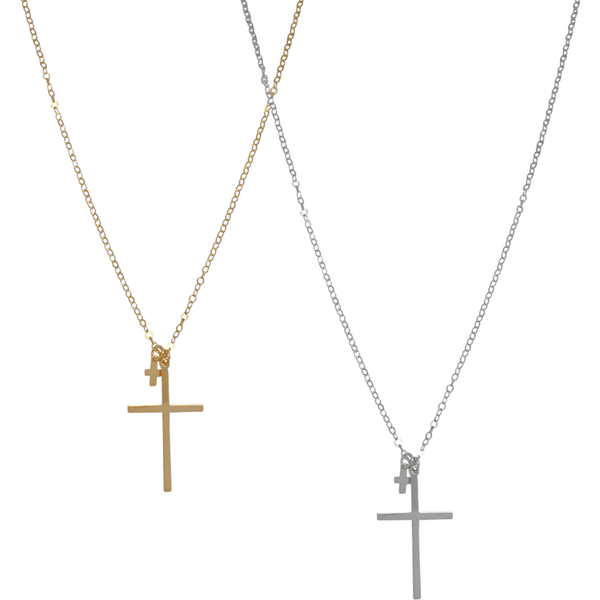 Lana double cross necklace