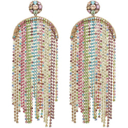 Pastel Crystal Waterfall Earrings  8 - Sarah Urban
