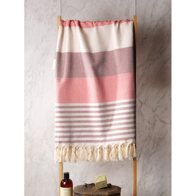 Turkish Towel - Peach and Cream