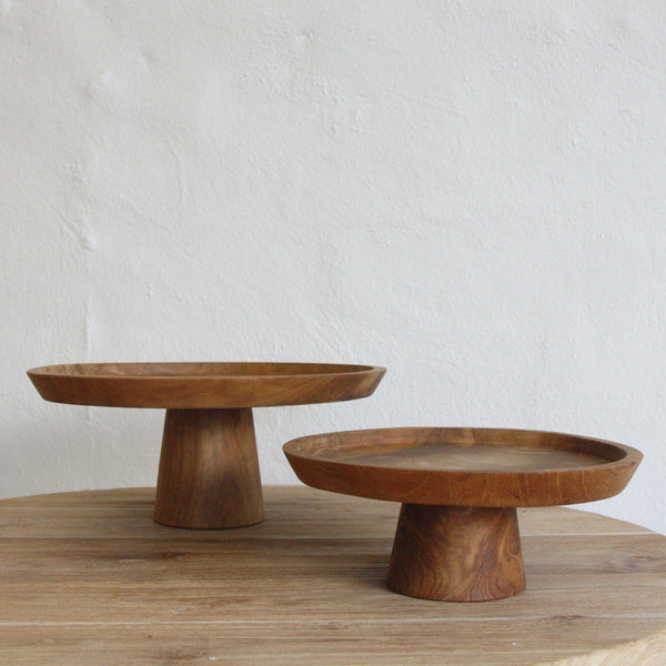 Jali Wooden Cake Stand - BACKORDER -x due to ongoing wharf disputes now due late December - Sarah Urban
