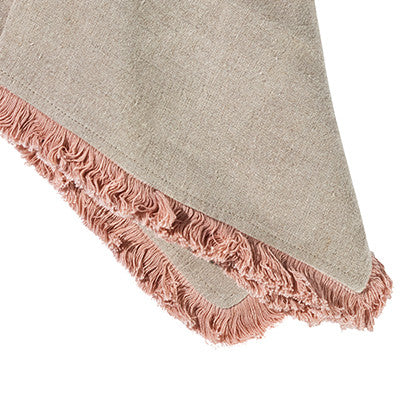 Natural and Blush Napkin set of 4 - Sarah Urban
