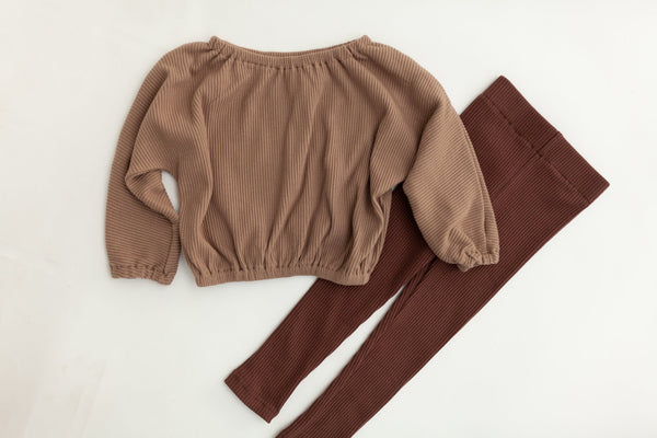 Ribbed Leggings | Fig
