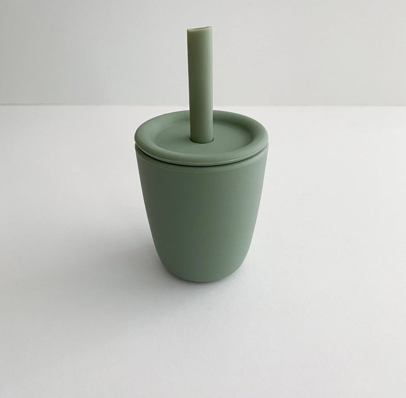 Training cup w/ lid and straw | Sage