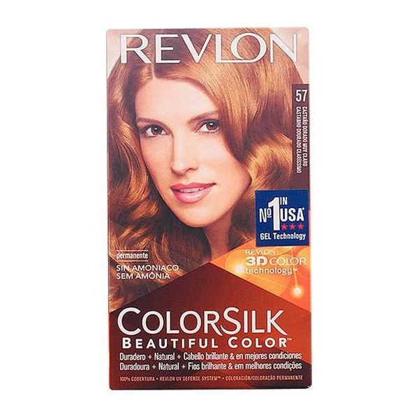 Dye No Ammonia Colorsilk Revlon Very light golden chestnut