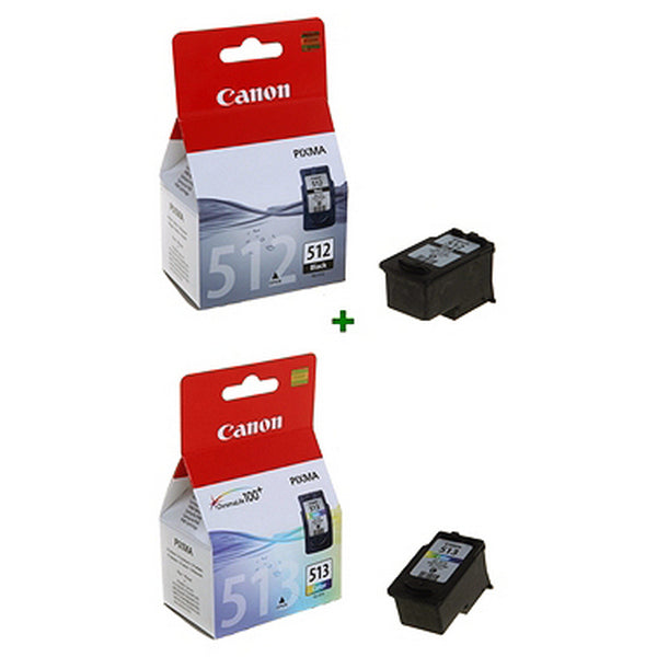 Original Ink Cartridge (pack of 2) Canon PG512+CL513 (2 pcs) Black/tricolour