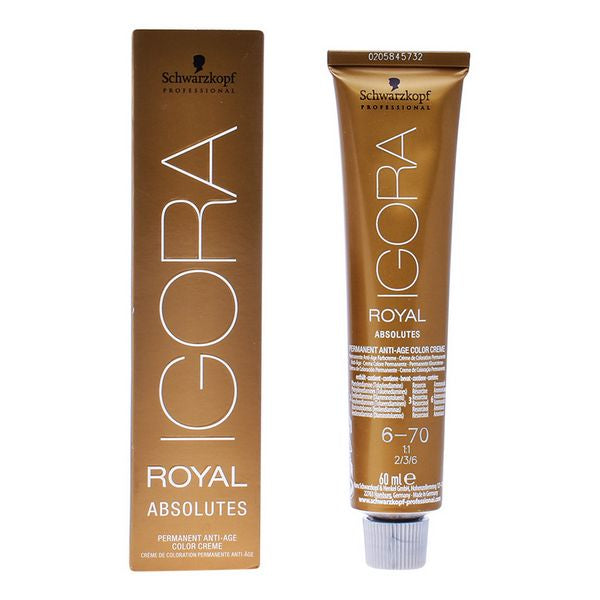 Anti-Ageing Colouring Gel Igora Absolutes N6-70 Schwarzkopf (60 ml)