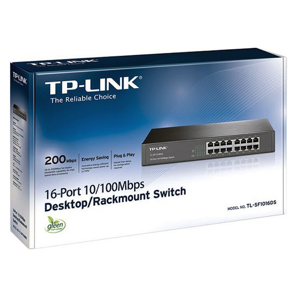 Cabinet Switch TP-Link TL-SF1016DS LAN 3.2 Gbps Black