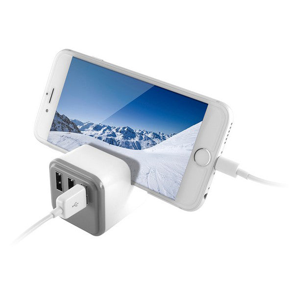 Wall Charger KSIX 3 USB White