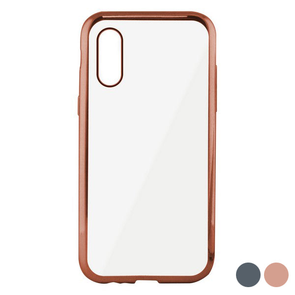 Mobile cover Iphone X/xs KSIX Flex Metal TPU Flexible
