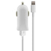 USB Car Charger + MFi Certified Cable Lightning 2.1A White
