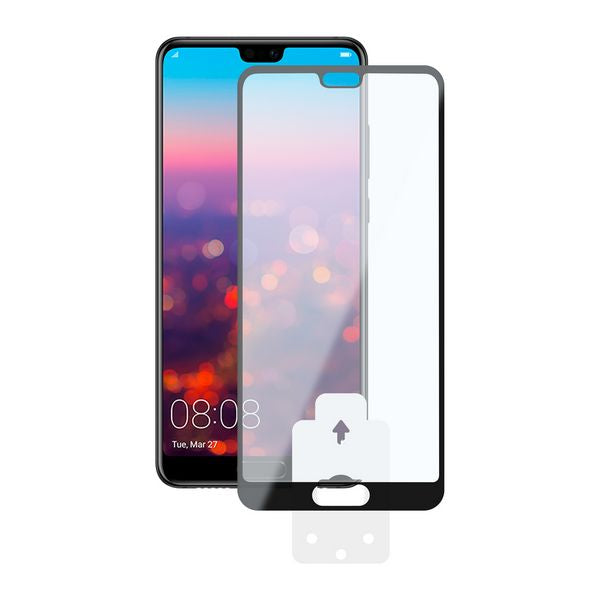 Tempered Glass Mobile Screen Protector Huawei P20 KSIX 2.5D Black