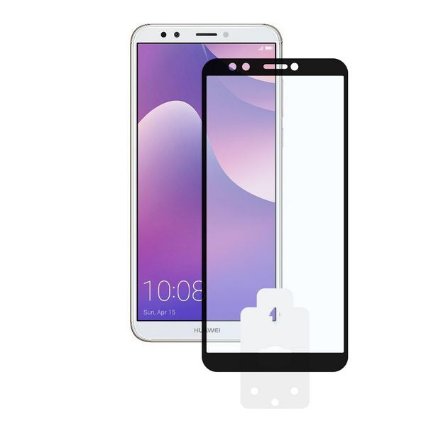 Tempered Glass Mobile Screen Protector Huawei Y7 2018 KSIX 2.5D Black