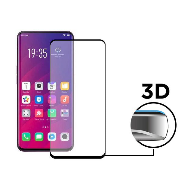 Tempered Glass Mobile Screen Protector Oppo Find X KSIX Extreme 3D