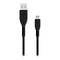 USB to Lightning Cable KSIX Armor Black